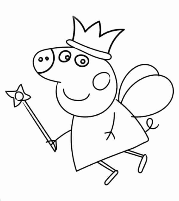 Peppa coloring page to print for free