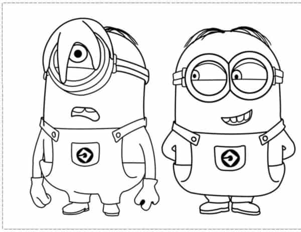 drawing Minios to print for free