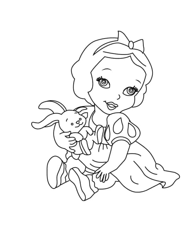 Snow White baby coloring