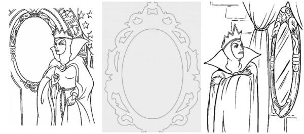snow white mirror coloring