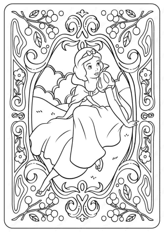 free Snow White drawing