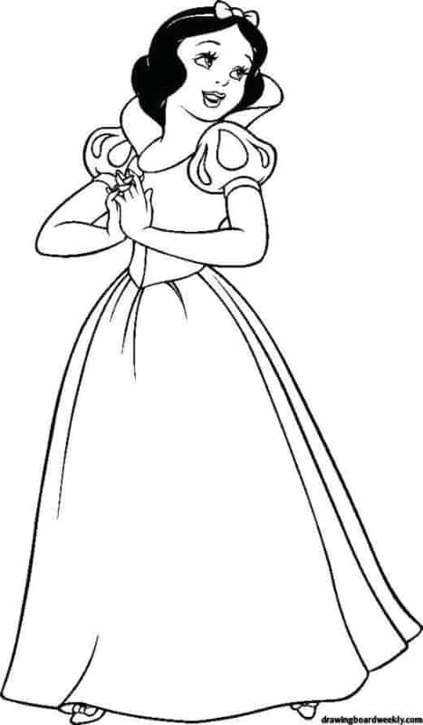 simple Snow White coloring page