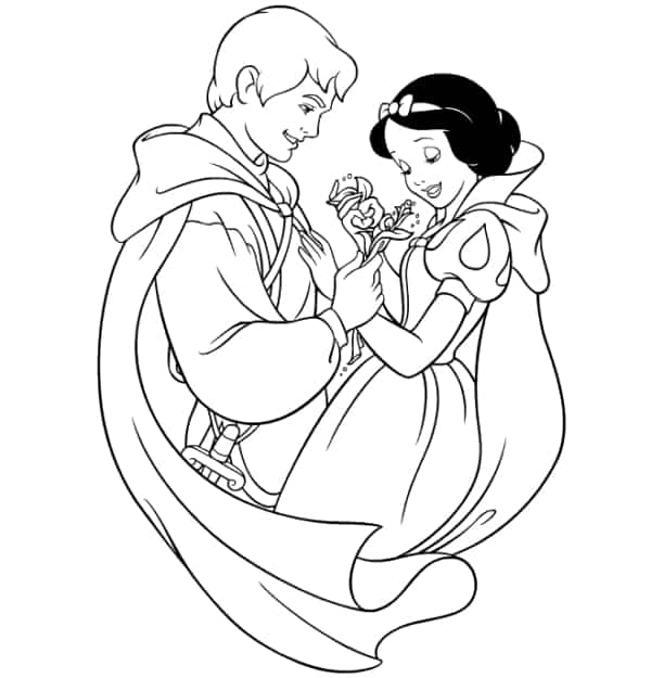 Snow White painting activity