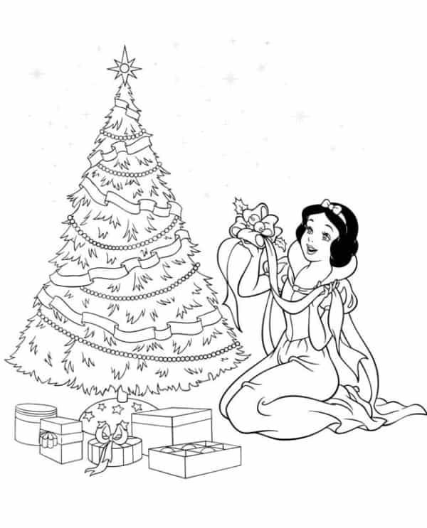 snow white christmas drawing