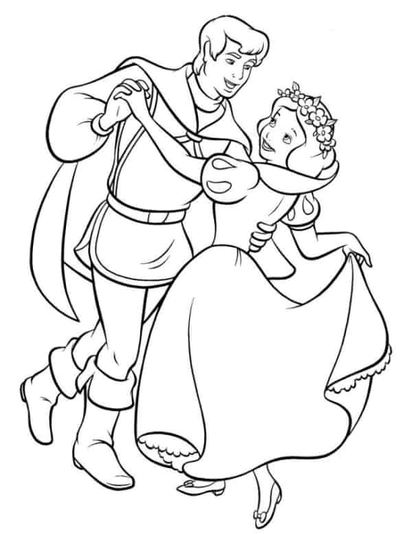 Snow White dancing with the prince