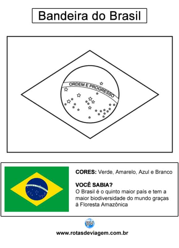 activity with Brazil flag for coloring