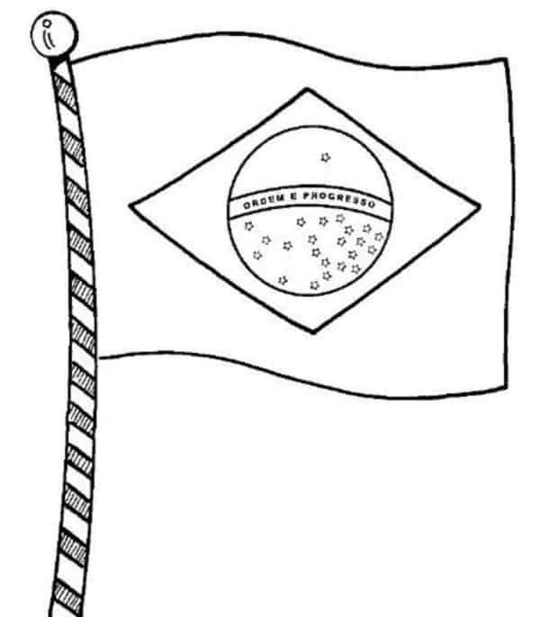 drawing of the flag of Brazil to paint