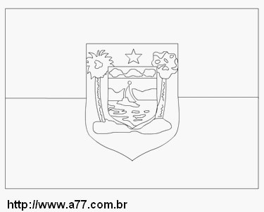 flag of the State of Rio Grande do Norte coloring page