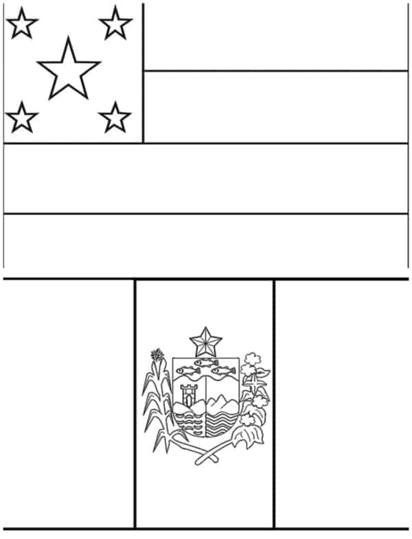 Sergipe and Alagoas flags for coloring