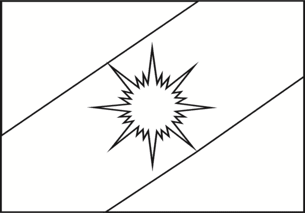Tocantins flag for coloring