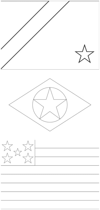 flags of the Midwest states for coloring