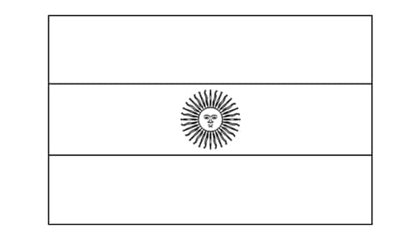 Argentina flag for coloring