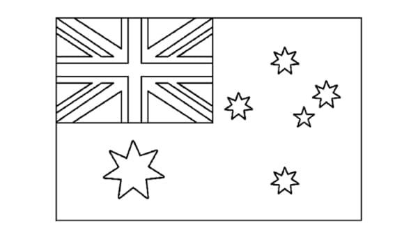 Australia flag to paint