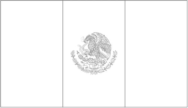 mexico flag coloring