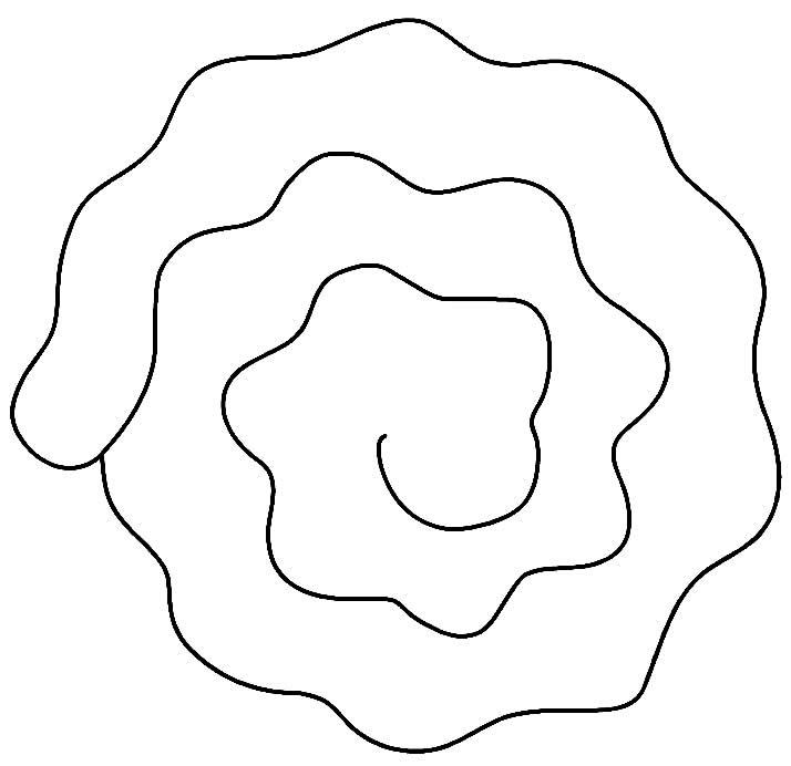Spiral flower mold
