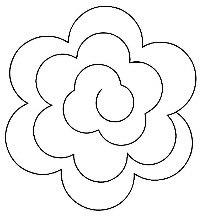 Flower spiral mold