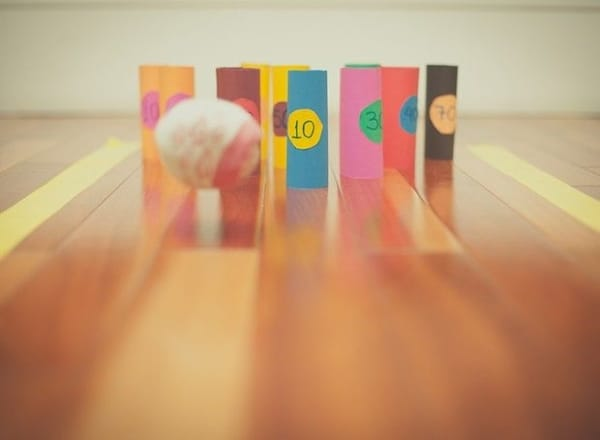 bowling game with ball