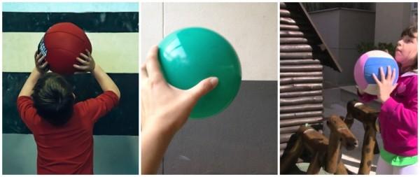 creative play with ball