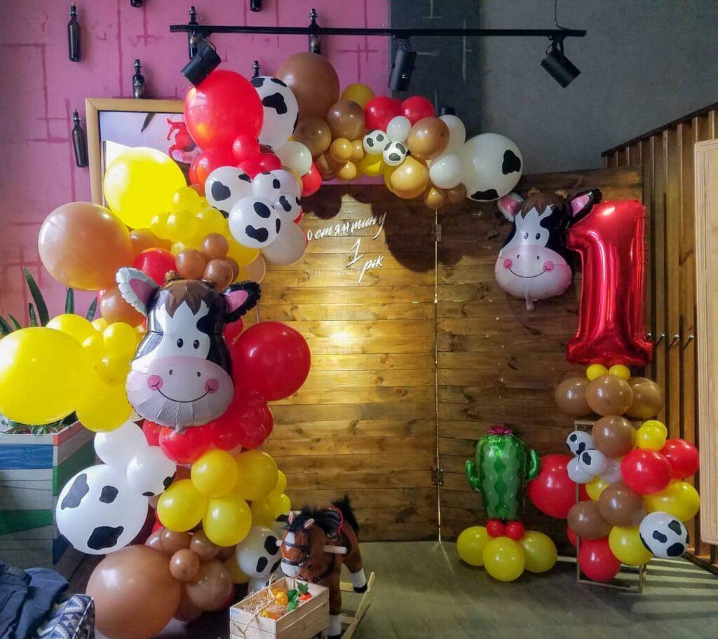 Cowboy Party Balloon Arch