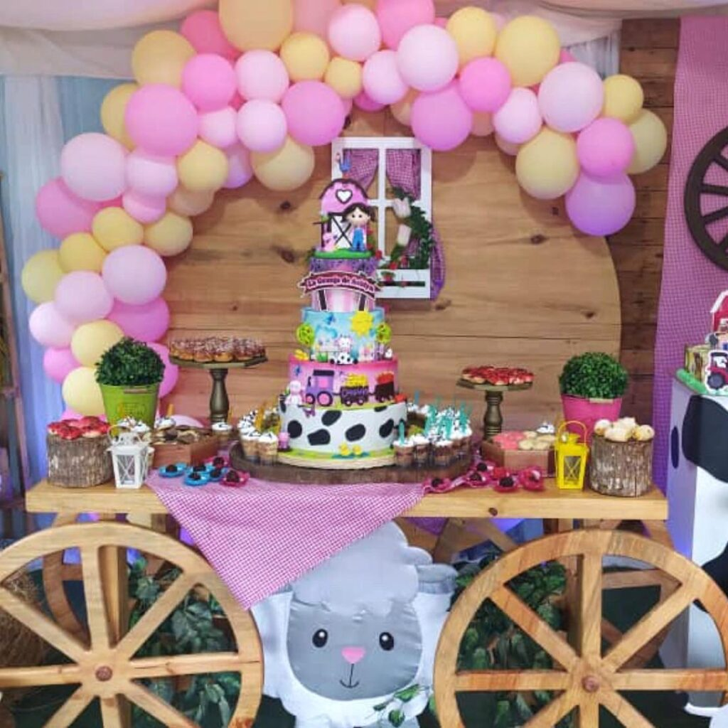 Girl's Cowboy Party Dessert Table
