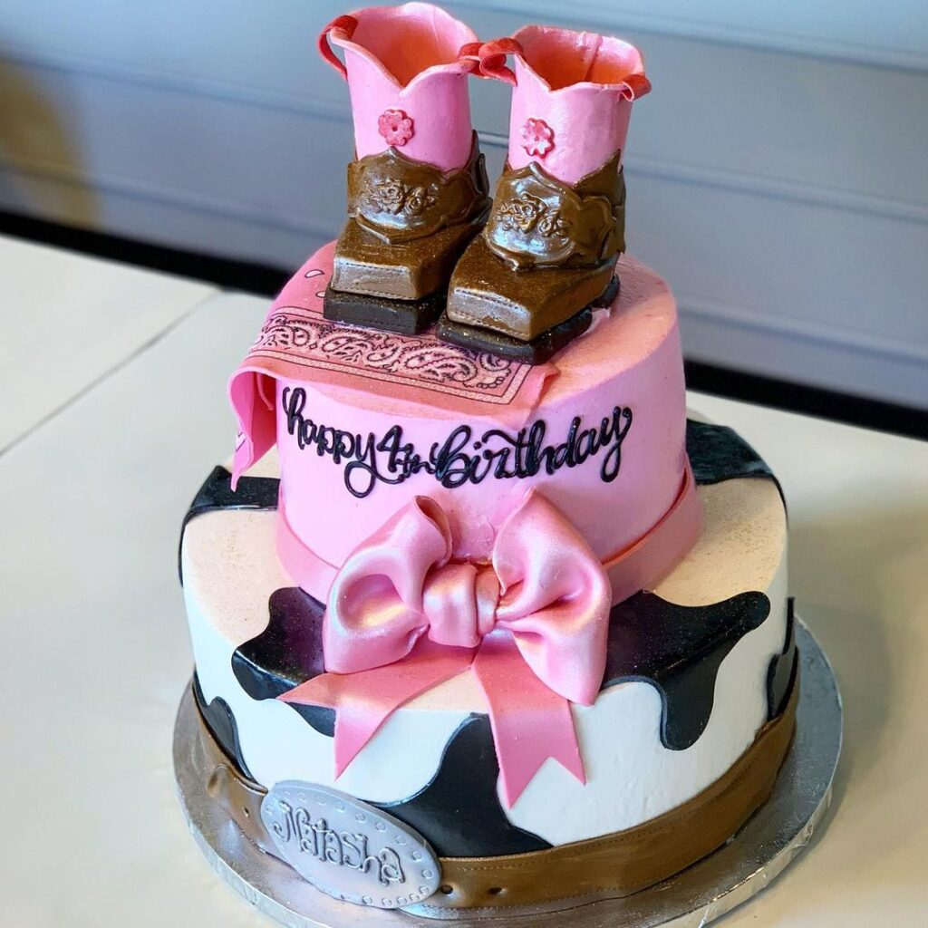Girls Cowboy Party Cake