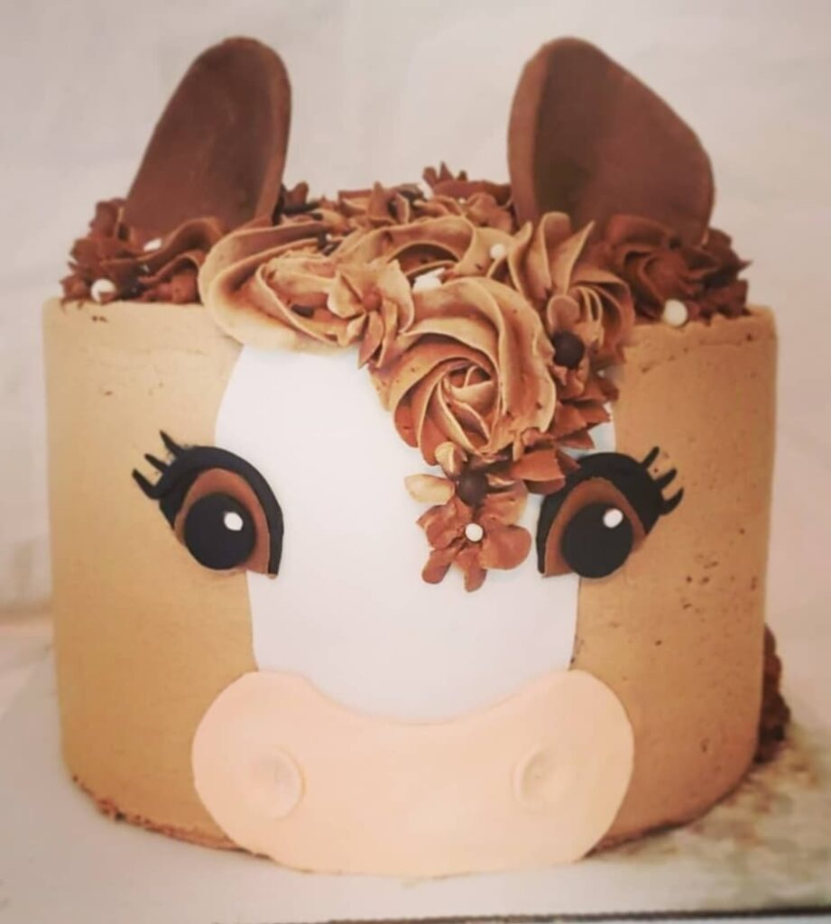 Cowboy horse cake