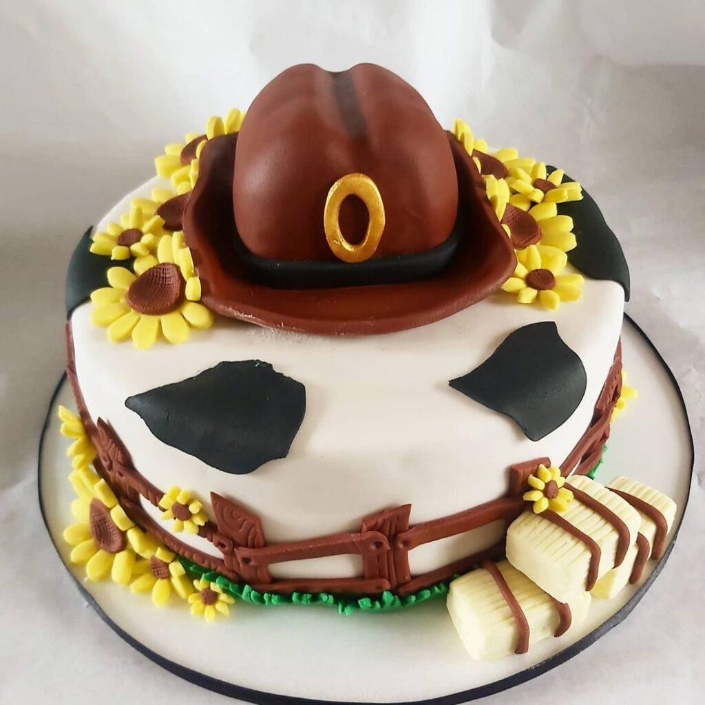 Cowboy cake for girl