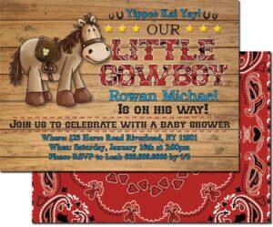Cowboy Party Invitation