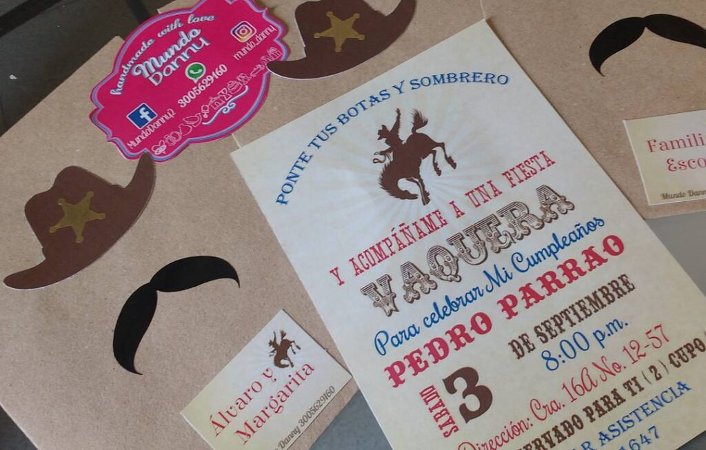 Cowgirl Party Invitation