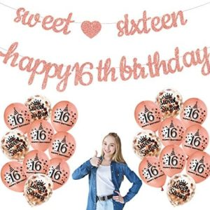 1619591017 16th birthday party decorations 16th Birthday Decorations Banner Balloons