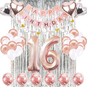 16th birthday party decorations 16th Birthday Decorations Banner Balloon