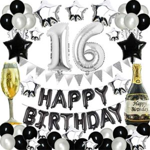 16th birthday party decorations 16th Birthday Party Decorations Black