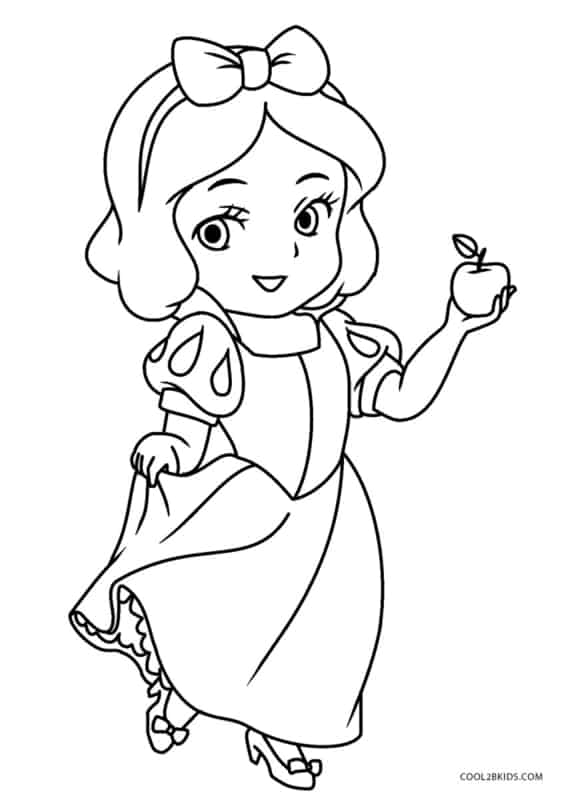 cute Snow White coloring page