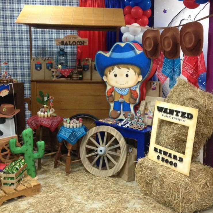 Cowboy party for boys and girls Decorations and other
