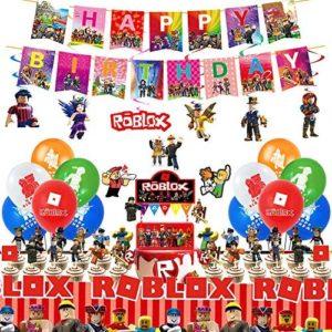 roblox birthday party decorations Robot Blocks Birthday Party Supplies