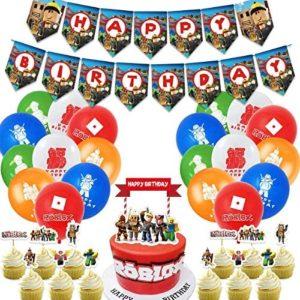 roblox birthday party decorations Sandbox Birthday Party SuppliesGaming Theme