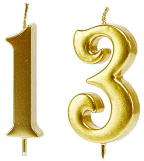 13th birthday party decorations Mart 13th Birthday CandlesGold Number
