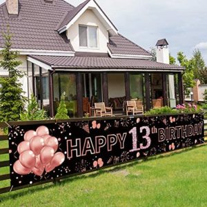 13th birthday party decorations Pimvimcim 13th Birthday Banner Decorations