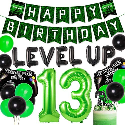 13th birthday party decorations Video Game 13th Birthday Party
