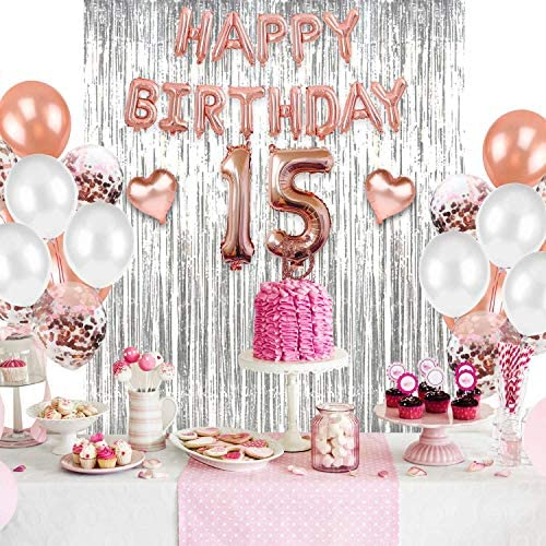 1620897544 15th birthday party decorations 15th Birthday Decorations Quinceanera Decorations