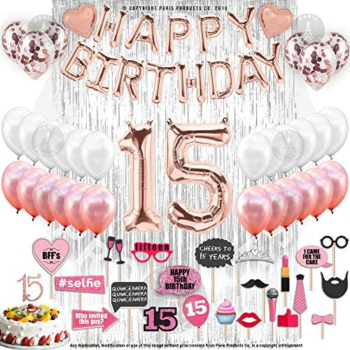 1621229799 15th birthday party decorations 15th Birthday Decorations With Photo
