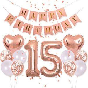 1621562460 15th birthday party decorations Birthday Decorations Pink Happy Birthday