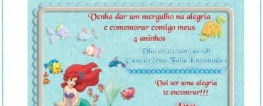 Ariel Party Invitation Ideas