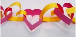 Beautiful heart garland