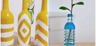 Decorating with recycling glass bottles