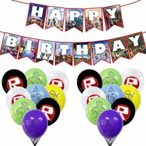 roblox birthday party decorations 19 Pack Sandbox Game Theme