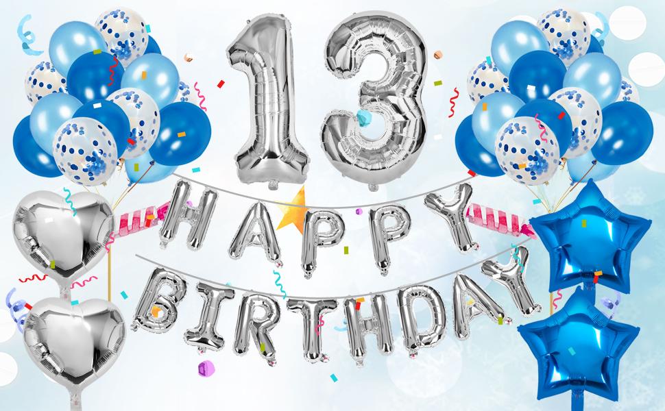 13th birthday party decorations 13th birthday decorations blue 13 birthday party decorations
