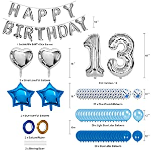 birthday decorations for teen girls 13  13th birthday outdoor decorations for boys home party