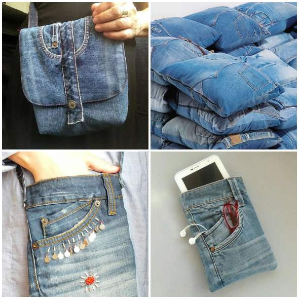 20 ways to reuse jeans