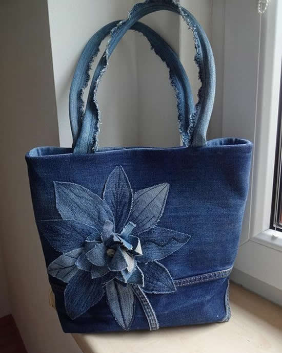 bag with jeans